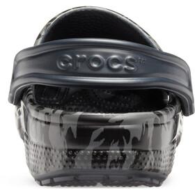 Crocs Classic Printed Camo Clogs, black